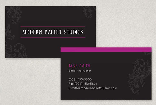 Elegant Ballet Business Card, Elegant Ballet Businesscard Template, ballet, ballerina, dance, dancing, dancer, performance, physical activity, healthy lifestyle, studio, jump, motion, movement, leotard, rehearsal, practice, classes, instructors, schedule, company, stage, large type, contemporary, fitness, health, black, rose, gray, grey, pink, flyer, post card, mail, mailing, nutcracker, holiday, christmas, beautiful, elegant, whimisical, purple