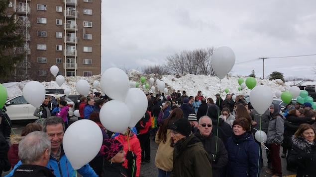 Une centaine de personnes ont rendu hommage à Thérèse Gauvreau.