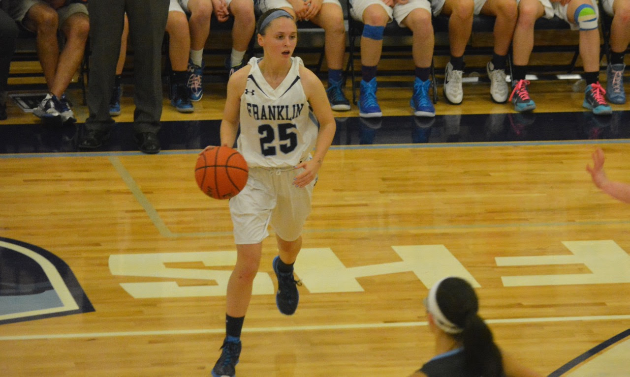 Lauren Rudolph (25) scored 15 points to lead the Panthers to a 70-41 win over Holy Name in the season opener. (Josh Perry/HockomockSports.com)