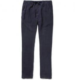 Hartford Troy Straight-leg Linen Trousers