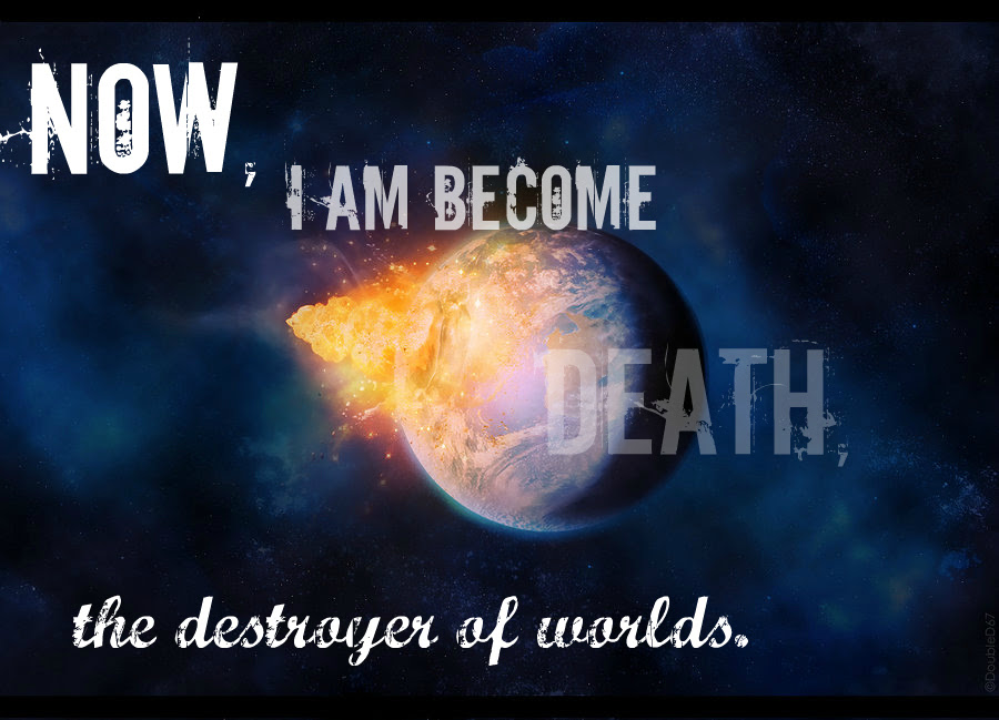 Now I Am Become Death The Destroyer Of Worlds In Sanskrit 82122