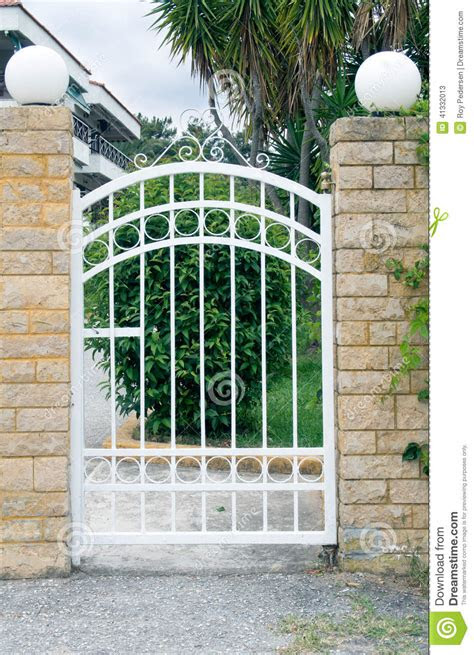 small gate stock photo image