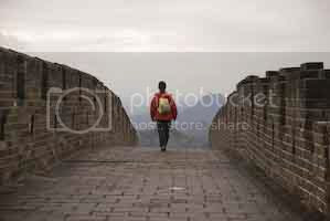 Walking the wall at Mutianyu