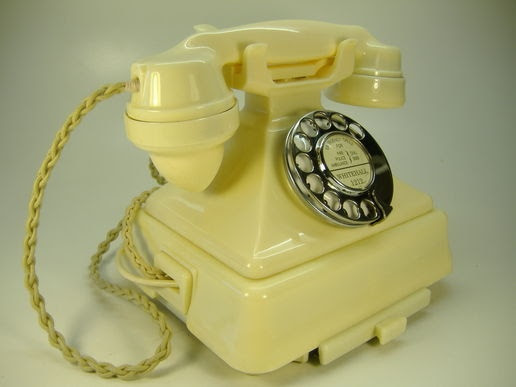 Rare Ivory 1940's British telephone. From the days when nearly all Telephones were Black.