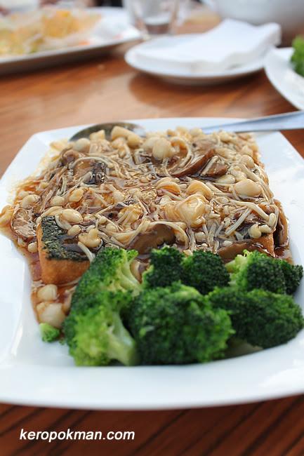 Mushrooms Tofu with Broccoli