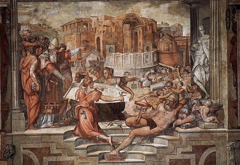File:Giorgio Vasari - Paul III Farnese Directing the Continuance of St Peter's - WGA24304.jpg