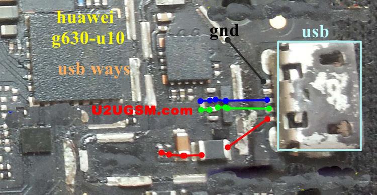 Huawei G630-U10 Usb Charging Problem Solution Jumper Ways