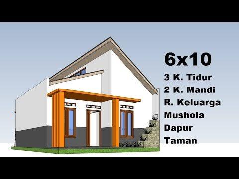 desain rumah minimalis 6x10 tampak depan - 100 denah rumah
