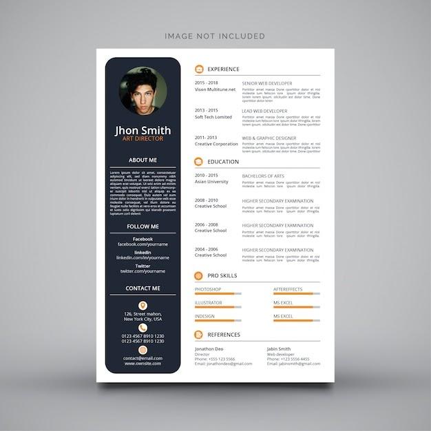 Curriculum Vitae Design Free Vector