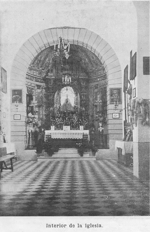 Ermita de la Bastida hacia 1925. Atribuida a Rodríguez o Santiago Camarasa