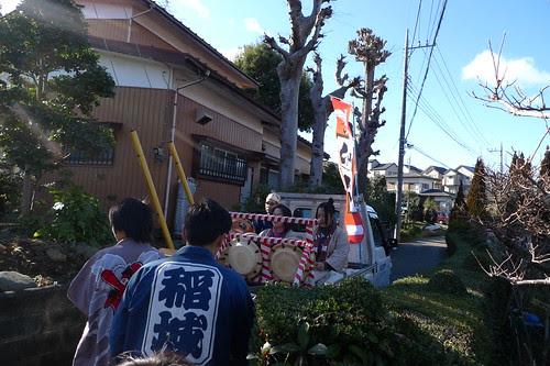 Following the shishimai team