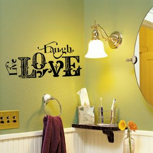 Live Laugh Love Vintage Wall Words Design Decal Applique You ...