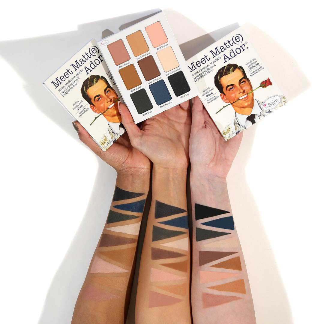 The Balm Meet Matt(e) Ador Eyeshadow Palette Swatches