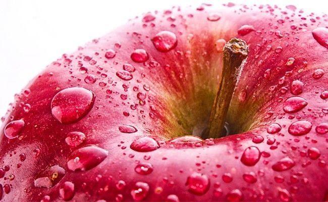 Imagem de uma maçã fresca, ideal para o café da manhã