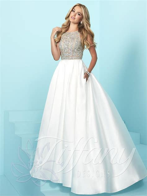 Tiffany Designs 16253 Sophisticated Prom Dress: French Novelty