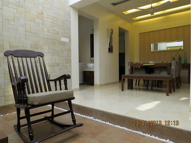 Courtyard & Dining - 3 BHK Bungalows at Green City Handewadi Road Hadapsar Pune 411028
