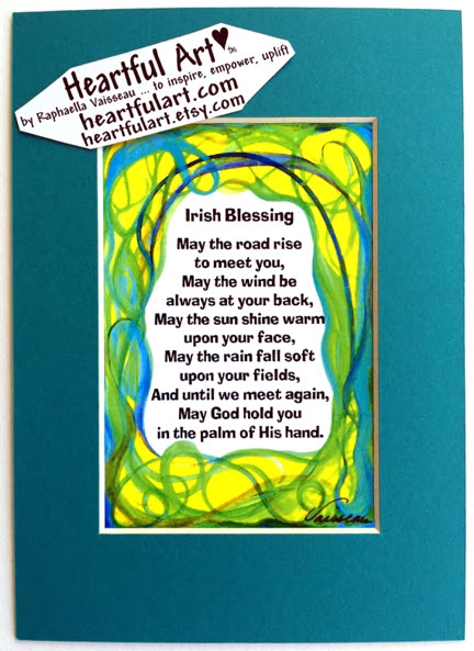 Heartful Art Online Irish Blessing Quote 5x7 Heartful Art By