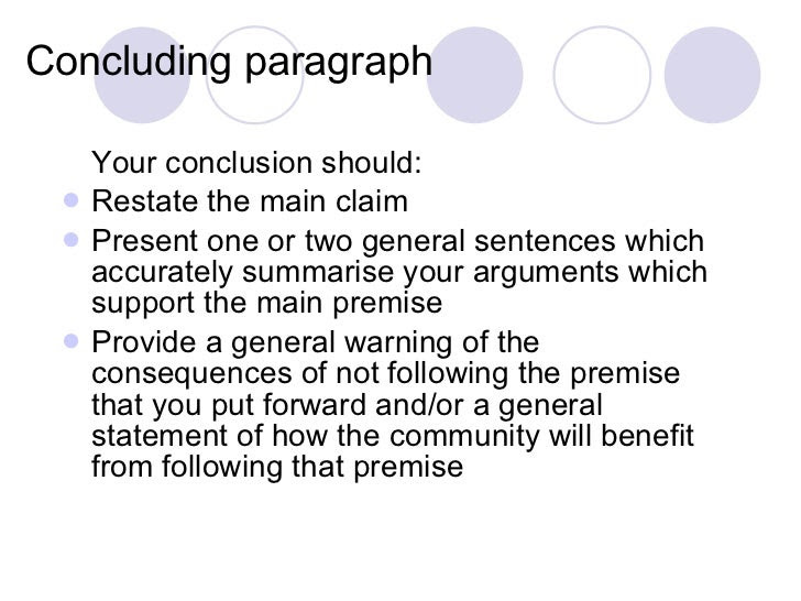 how to write a concluding paragraph in an argumentative essay