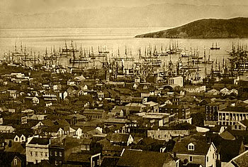 English: San Francisco harbor (Yerba Buena Cov...