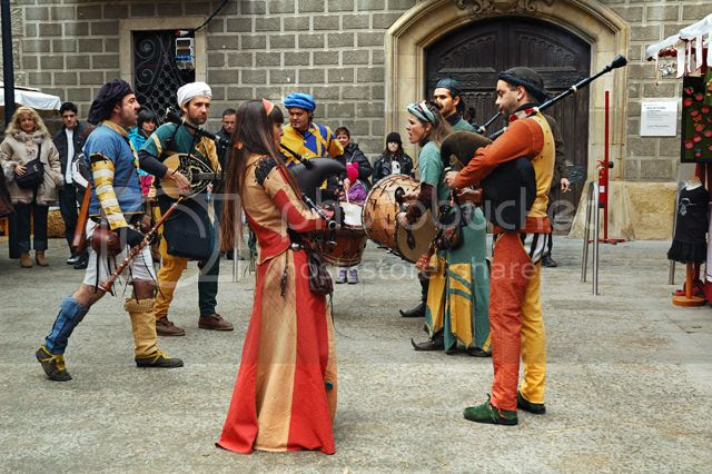 Musicians at the Medieval Fair in Vic, Osona, Barcelona Province [enlarge]