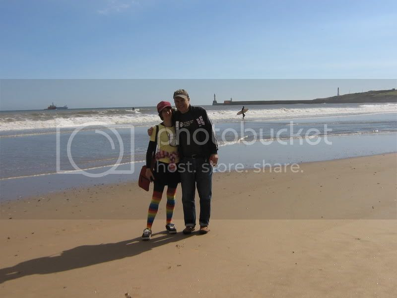 Photo: Rullsenberg & Cloud on Aberdeen beach Sept 2006