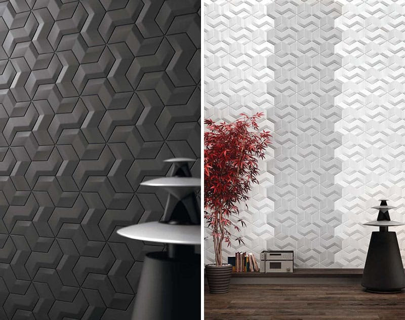 25 Spectacular 3D Wall Tile Designs To Boost Depth and Texture homesthetics ideas (13)