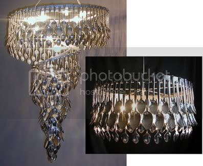 spoon chandeliers