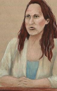 Specialist Jihrleah Showman, drawn by Debra Van Poolen.