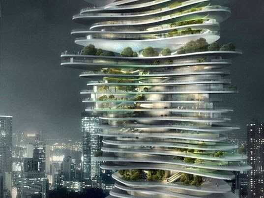 MAD's Urban Forest (Image courtesy inhabitat.com)
