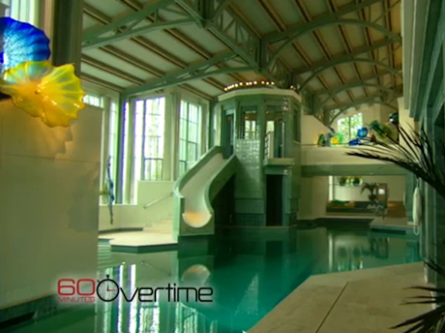 """He gave """"60 Minutes"""" a peek at the pool area during a segment that aired in 2011."""