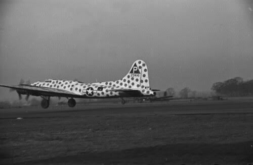 spotted B 17 landing