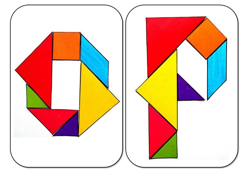 tangram alphabet O P