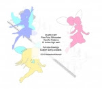 Pixie Fairy 3 Silhouette Woodworking Patterns - fee plans from WoodworkersWorkshop® Online Store - pixies,fairy,fairies,fantasy,yard art,painting wood crafts,scrollsawing patterns,drawings,plywood,plywoodworking plans,woodworkers projects,workshop blueprints