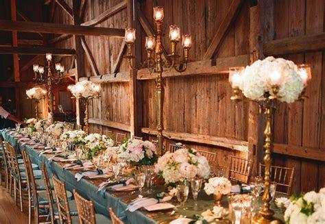Rustic elegance wedding reception venue and decor   OneWed.com