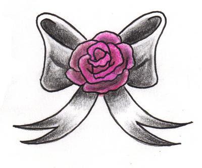 Pictures Of Rose With Bow Tattoo Kidskunstinfo