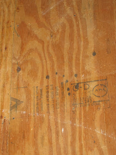 Blood? on the plywood