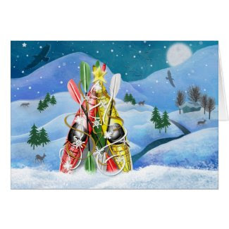 Kayak Christmas Tree Wonders of Nature Greeting Card