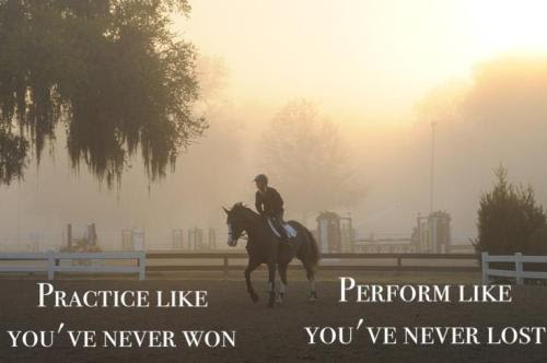 Quotes Motivation Inspiration Sports Horse Competition Practice