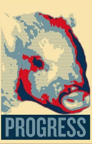 Porquinho é 'candidato' a prefeito em cidade dos EUA (Foto: Giggles the Pig for Flint Mayor/Reprodução)