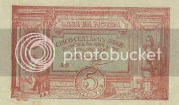 5 centavos bronze, emitida pelo Banco de Portugal, com data de 1918 - Image hosted by Photobucket.com