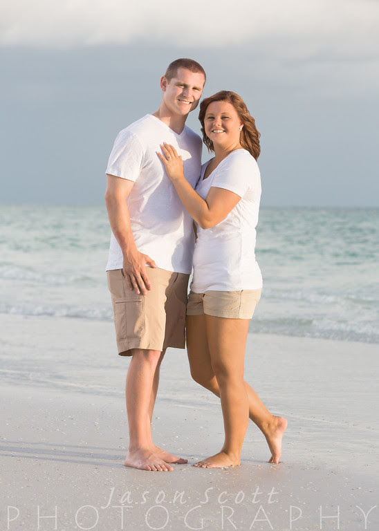 Jessica and Ronnie at Crystal Sands on Siesta Key, June 2013