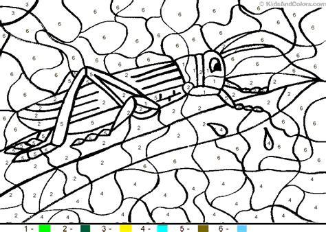 animalcolorbynumber color  number grasshopper