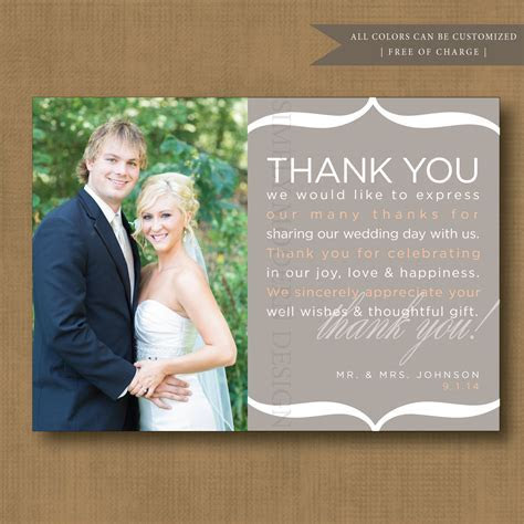 wedding thank you note, wedding thank you card, guest