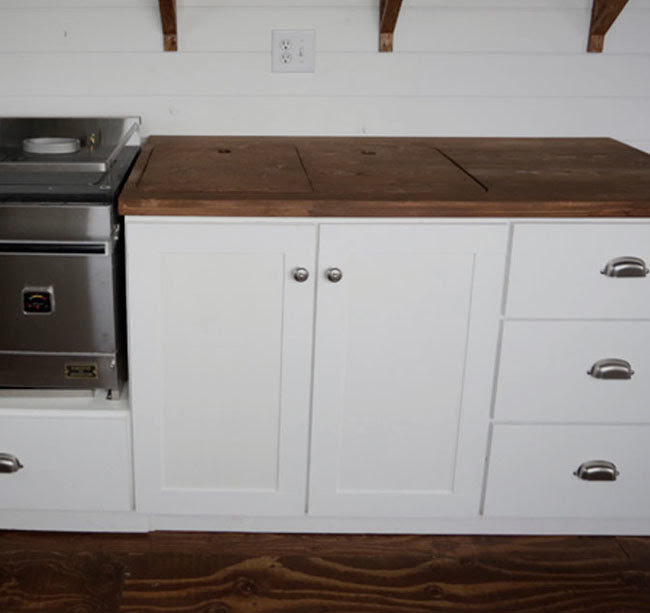 Euro Style Kitchen Sink Base Cabinet for our Tiny House ...
