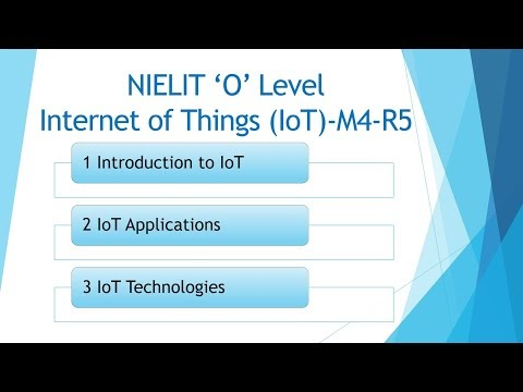 Internet of Things and its Applications (M4-R5)-O level