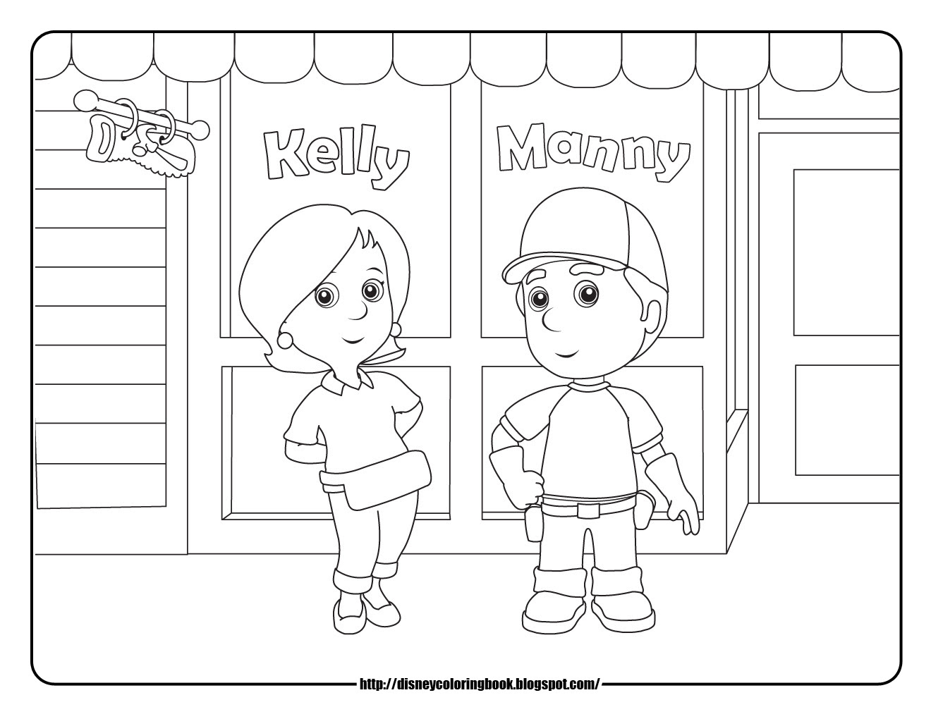 Handy Manny Coloring Pages To Download And Print For Free