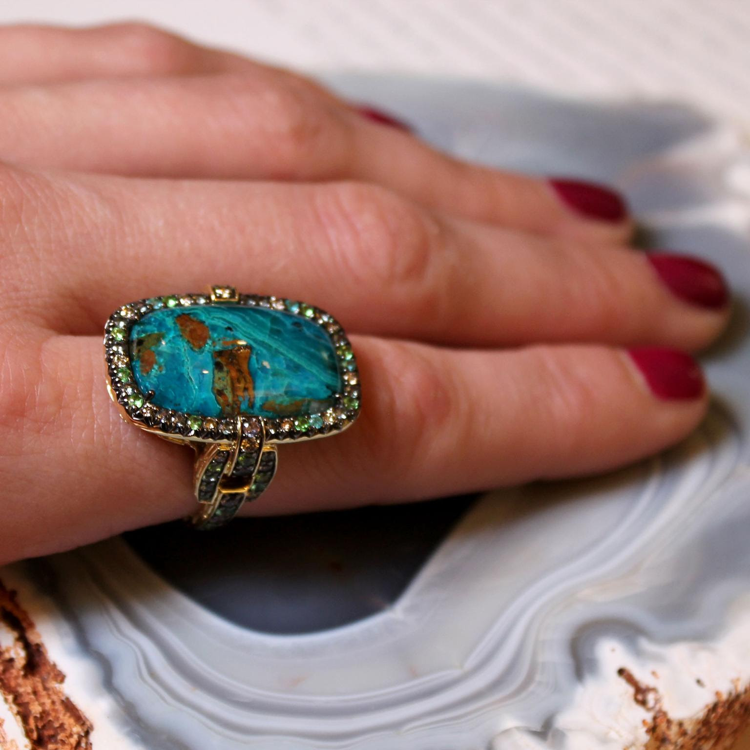 John Hardy chrysocolla ring as seen at Las Vegas Couture 2017