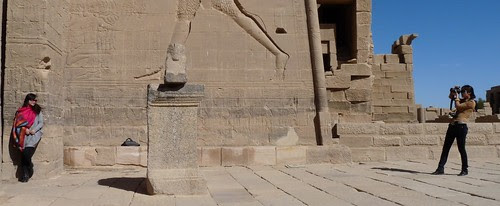 Chinese Tourists at Philae Temple