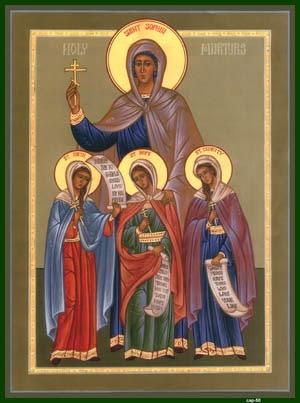 SOPHIA, Pistis, Elpis, Agape, the Martyrs