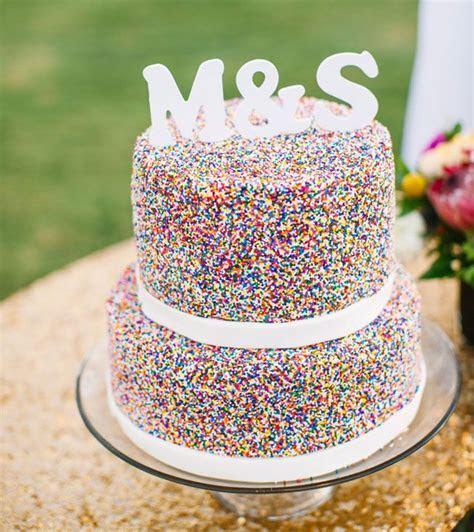Best 25  Sprinkle Wedding Cakes ideas on Pinterest